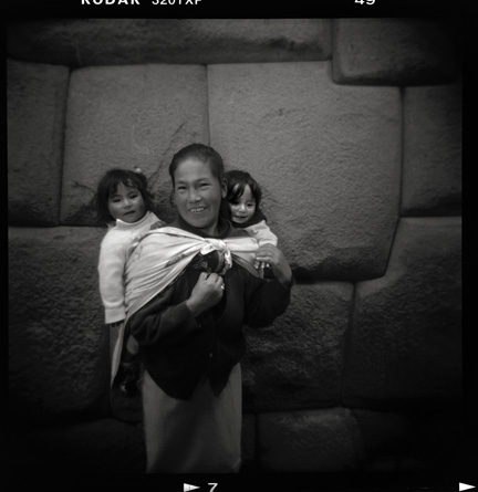 Mother and Twins, Cuzco, Peru 2007