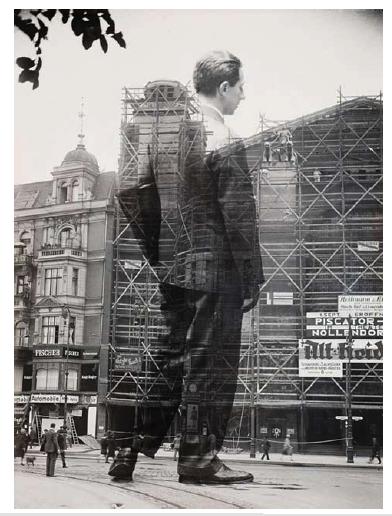 Sasha Stone (b. Russia, 1895-1940), Erwin Piscator Entering the Nollendorf Theater, Berlin, 1929