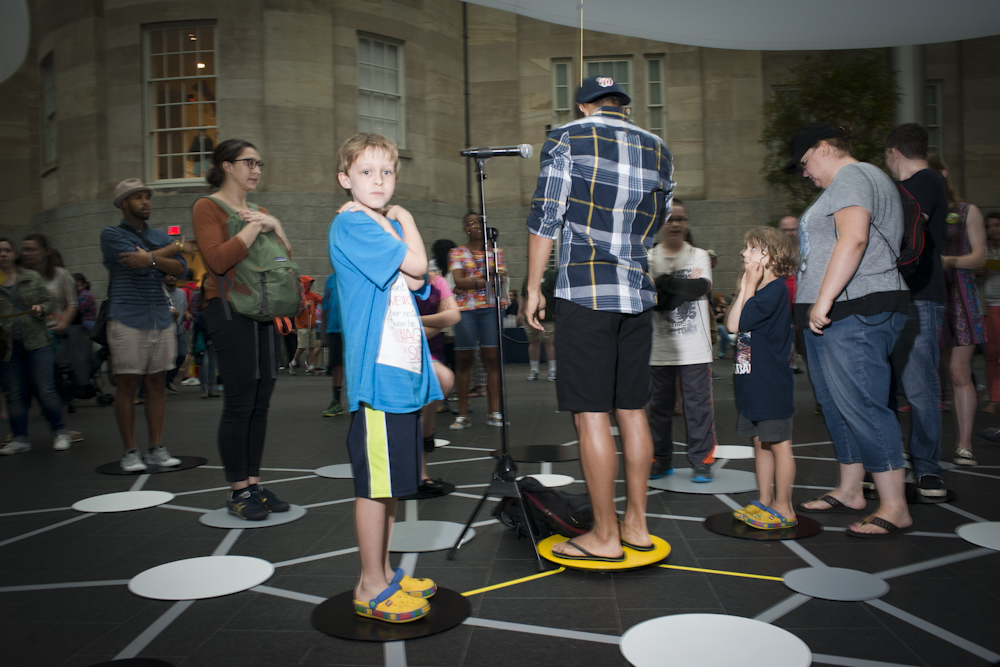 June 27, 2015 - A performance of the kinetic game and art installation,